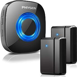 Wireless Door Sensor Chime PHYSEN Alarm Contact Sensor Door Bell for Office/Home/Store,Door Open Chime Window Alarm Operate Range 600ft with 58 Chimes 5 Volume Level
