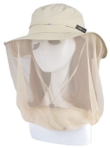 Camo Coll Women's Outdoor UPF 50+ Sun Hat with Mesh Face Mask