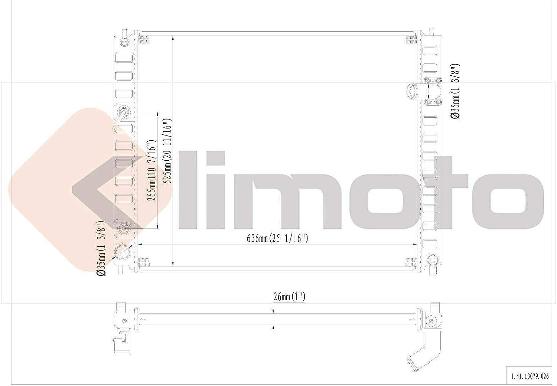 Klimoto Radiator KLI13079 fits Infinity FX35 2009-2012 FX50 2009-2013 FX37 3.5L 3.7L V6 5.0L V8 4WD 4x4 All Wheel Drive