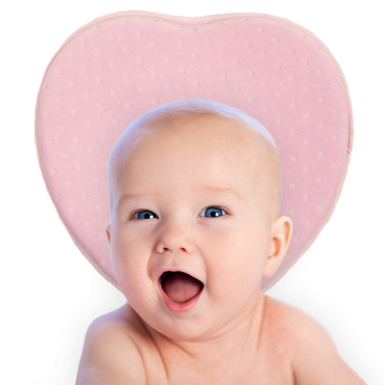 Baby-Kissen von Mello: Orthop/ädisches Kissen f/ür S/äuglinge und Kleinkinder Blau herzf/örmig Kopfst/ütze gegen Plagiozephalie verhindert das Flacher-Kopf-Syndrom