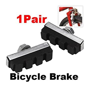 BICYCLE OLD STYLE Bike 40mm BRAKE SHOES Caliper Pads Threaded 1 Pair BLACK