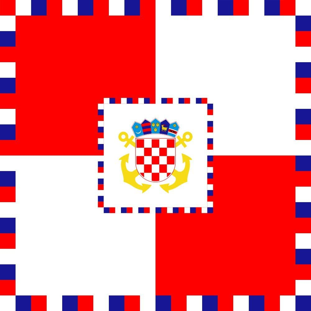 magFlags XL Flag Counter Admiral Rear Admiral of The Armed Forces of The Republic of Croatia | 2.16m² | 23sqft | 150x150cm | 60x60inch - 100% Made in Germany - Long Lasting Outdoor Flag