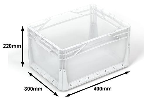 6 X 20 Liter Euronorm Industrie Kunststoff Stapeln, Euro Aufbewahrung  Container Boxen Kisten Klar