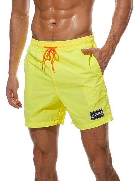 d4353aa8cbb1 HAINE Pantalones Cortos de Playa para Hombres Pantalones Cortos Deportivos  de Secado rápido e Impermeables Traje de baño Bañador