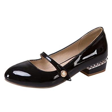 49bbdefbc64b3 Carolbar Women's Cute Sweet Low Heel Mary Janes