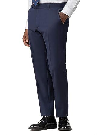 Racing Green - Pantalón de Traje - Liso - para Hombre Azul ...