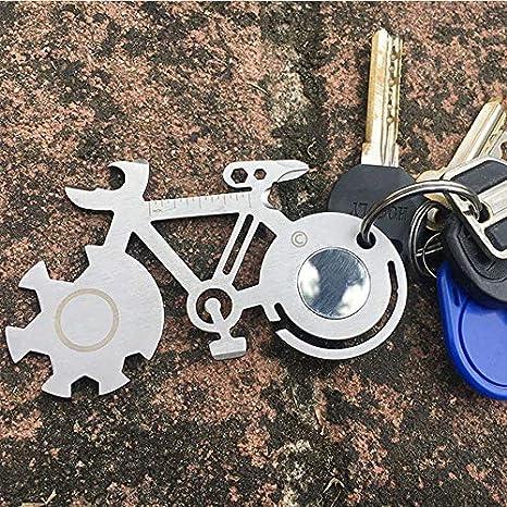 HoganeyVan Forma de Bicicleta Tarjeta de Bicicleta de Montaña Herramienta de Tarjeta de Supervivencia con Cuchillo Multi-herramienta Al Aire Libre Con ...