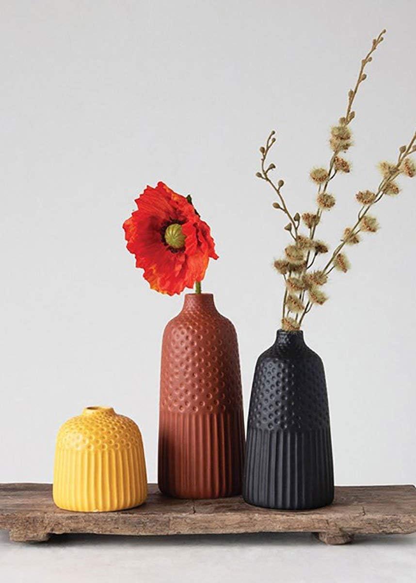 Afloral Set of 3 Multi Matte Glazed Bud Vases – 5-10 Tall