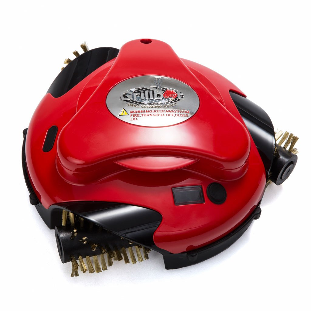 Grillbot Grill-Reinigungsroboter rot | Übernimmt die lästige und zeitraubende Reinigung des Grillrostes für Sie | Entfernt selbst hartnäckige Ablagerungen und Verkrustungen mühelos | Beginnt auf Knopfdruck selbstständig mit der Reinigung, einfache Ein-Tasten-Bedienung | Für Gas- und Holzkohlegrills geeignet | Batteriebetrieben