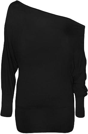 WearAll Women's Off-Shoulder Batwing Top at Amazon Women's ...