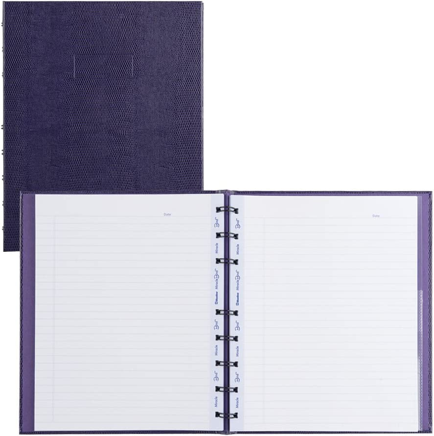 Blueline MiracleBind Notebook, Purple, 9.25 x 7.25 inches, 150 Pages (AF9150.44)