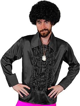 I LOVE FANCY DRESS LTD Camisa DE Disco Negra para Adulto Estilo AÑOS 70S Fiestas TEMATICAS O Carnaval (XL): Amazon.es: Juguetes y juegos