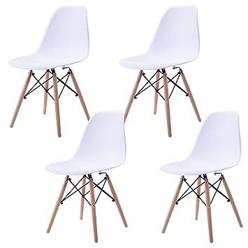 Navy Blue Furniture n.b.f - Juego de 4 sillas escandinava ...