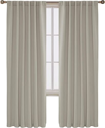 Deconovo Blackout Curtains Back Tab and Rod Pocket Thermal Insulated Room Darkening Curtains Review
