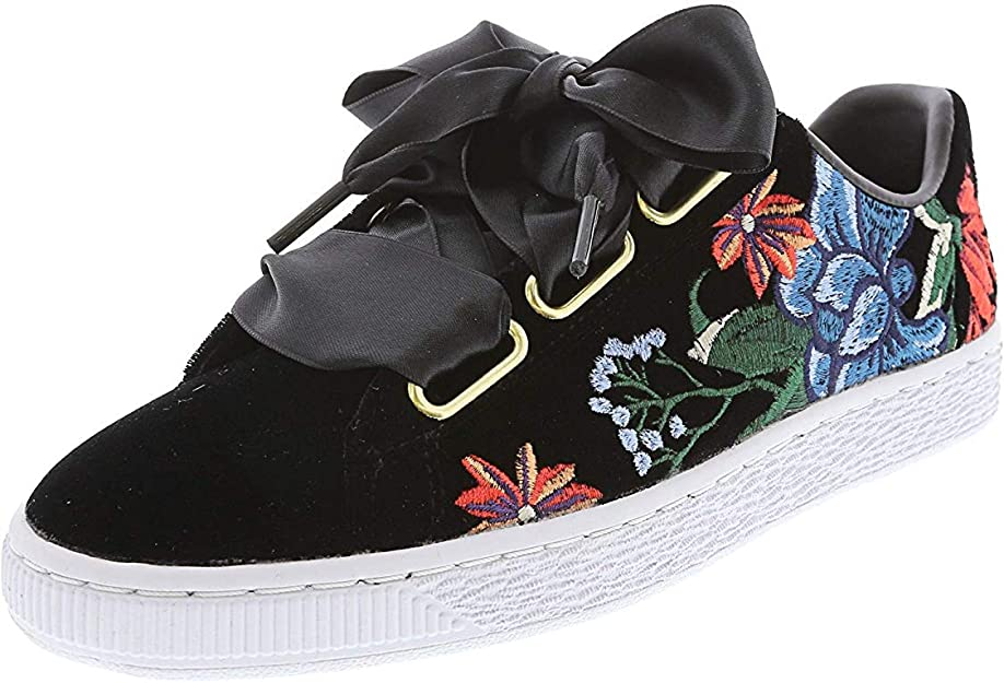 Embroidered Sneakers : Puma Basket Heart Hyper Shoe | Buckle