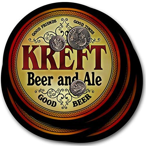 Kreftビール& Ale – 4パックドリンクコースター   B003QX4VPI