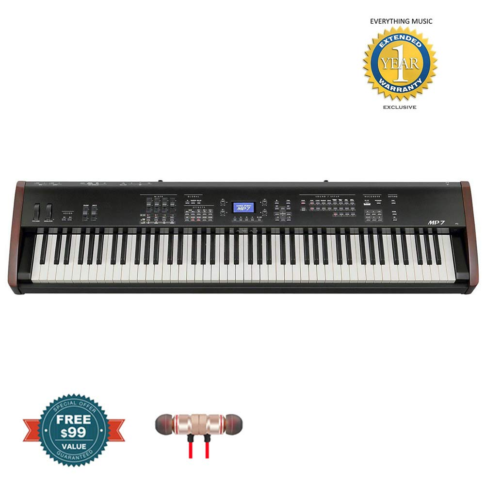 Kawai MP7 88-key Stage Piano and Master Controller includes Free Wireless Earbuds - Stereo Bluetooth In-ear and 1 Year Everything Music Extended Warranty by Kawai