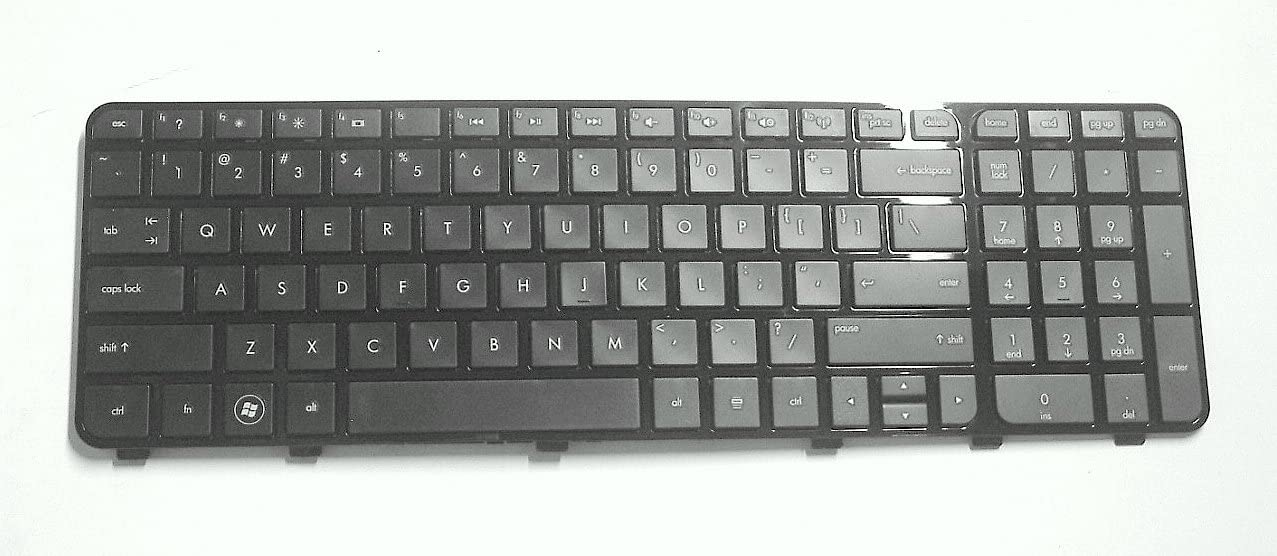 P&U New Black keyboard with Glossy Frame for HP Pavilion DV6-7000 Series 670321-001 697454-001 NSK-CKAUW Laptop/Notebook US Layout