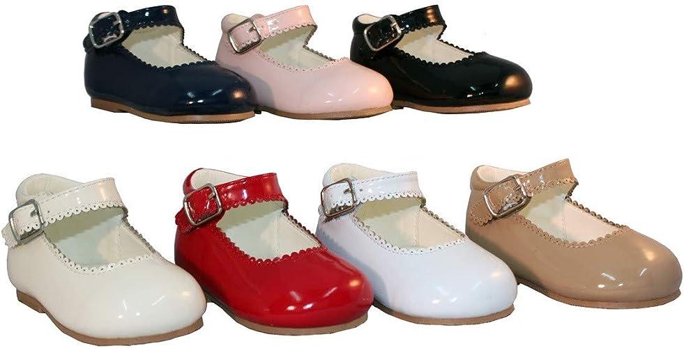 Sevva Girls Spanish Patent Mary Jane Strap Flat Shoes UK Size 4 -2 EU34 EU20