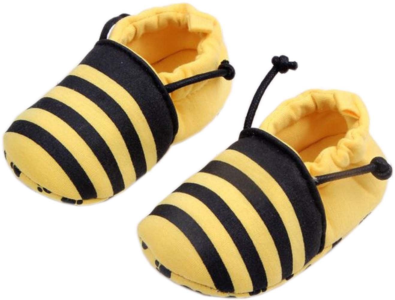 0-1 Year bettyhome Cotton Unisex Baby Newborn Bee Pattern Soft Sole Infant Toddler Prewalker Sneakers
