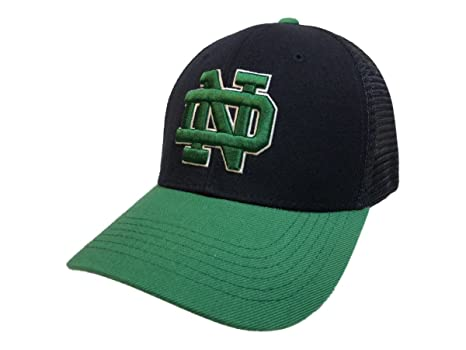 buy popular 1164d 376b9 Image Unavailable. Image not available for. Color  Top of the World Notre  Dame Fighting Irish Tow Navy   Green Series Mesh Structured Adj