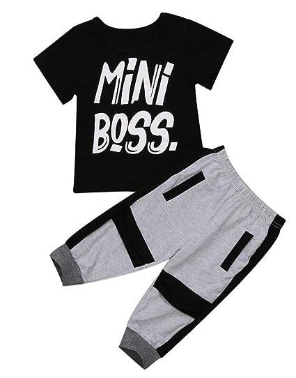 28db65c11 Funny Mini Boss Boy Girl Shirt Toddler Outfit Short Sleeve Infant T-Shirt  for Kids