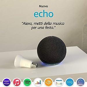 Nuovo Echo (4ª generazione), Antracite + Philips Hue White Lampadina