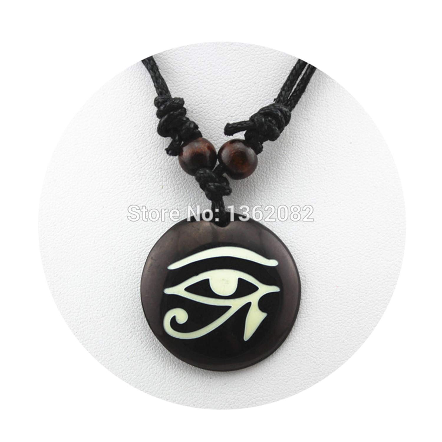 Best Gifts Imitation Yak Bone Resin Carved Egyptian The Eye Of Horus Pendant Necklace For Men Women Amazon Ca Jewelry