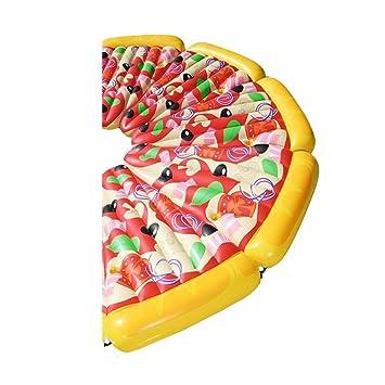 Inflatable Pool Float Raft Ociosos De Pizza Gigante Con Válvulas Rápidas Flotadores De Natación De Verano