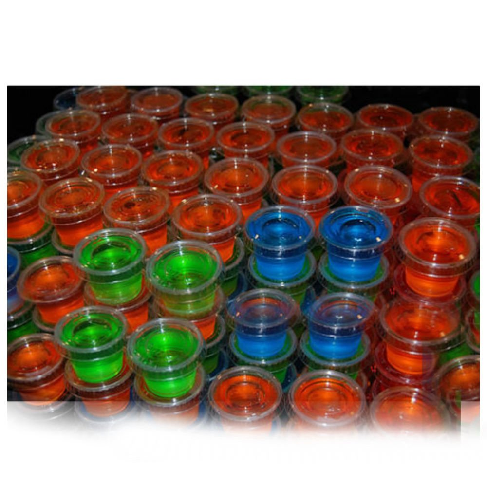 1oz Jello Jelly Shot Souffle Portion Cups with Lids Option, Clear Plastic (100 CUPS WITH 100 LIDS)