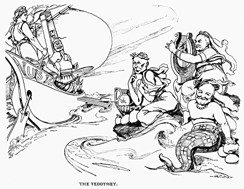 Roosevelt Cartoon 1907 NThe Teddyssey The Sirens Try To Lure Teddysses To The Rocks President Theodore Roosevelt Resists The Charms Of John D Rockefeller JP Morgan And Andrew Carnegie American Cartoon