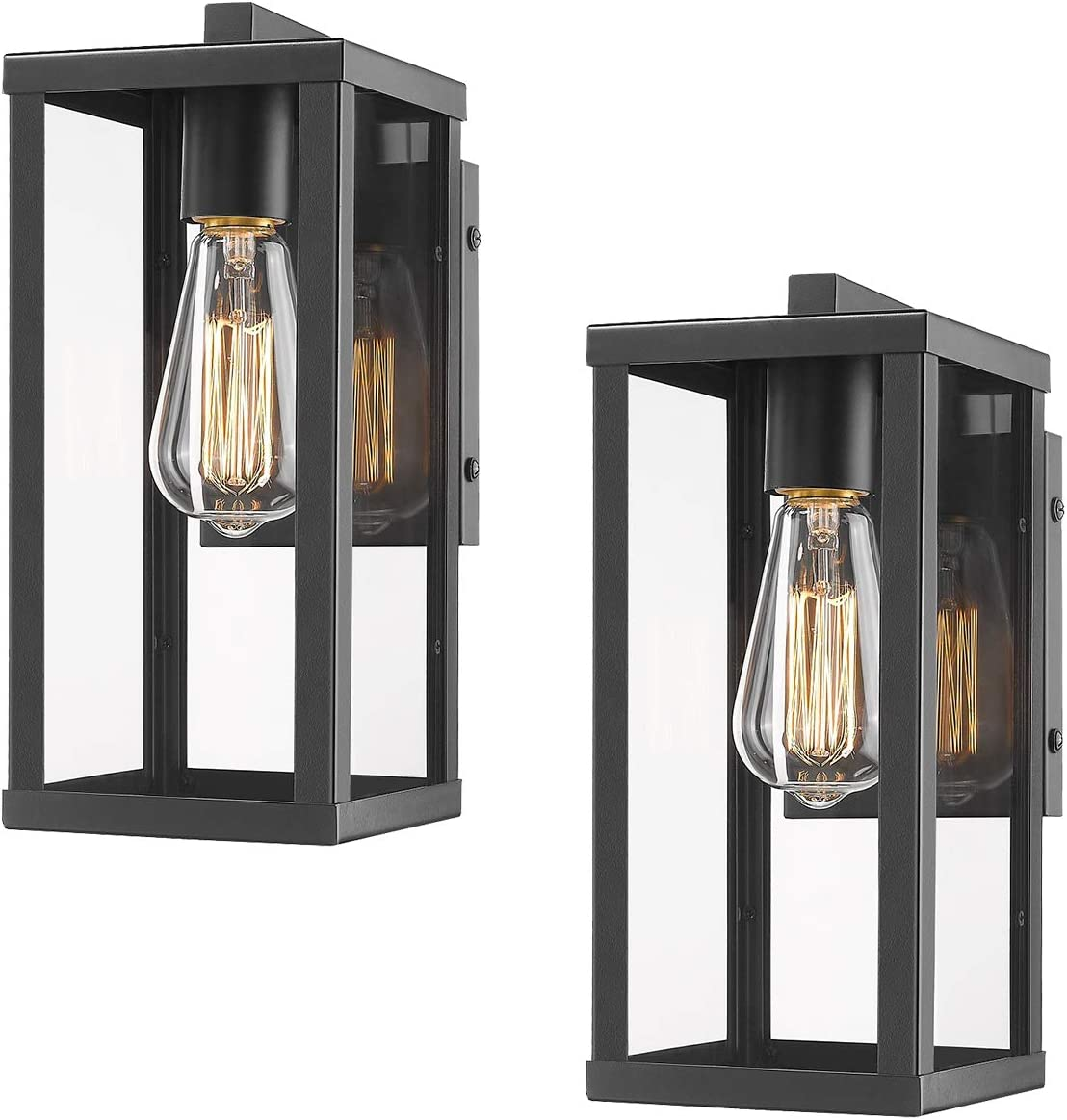 Odeums Outdoor Wall Lantern, Exterior Wall Mount Lights, Outdoor Wall Sconces, Wall Lighting Fixture (2 Pack)