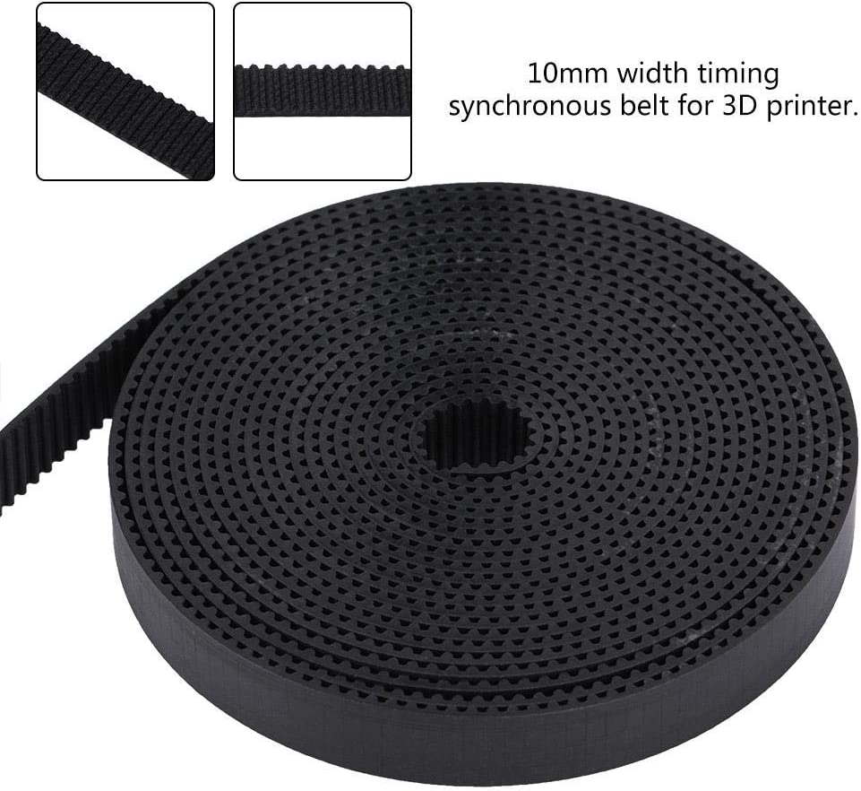 Professional 3D Printer Timing Belt,10mm Width GT2 Rubber Synchronous Timing Belt for RepRap Pursa i3 Wanhao Anycubic Ender 3 CR10 CNC Eewolf 5m 1m,2m,3m,5m,10m