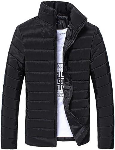 Men Winter Zip Up Stand Collar Slim Fit Jackets Coats Sweatshirt Casual Overcoat