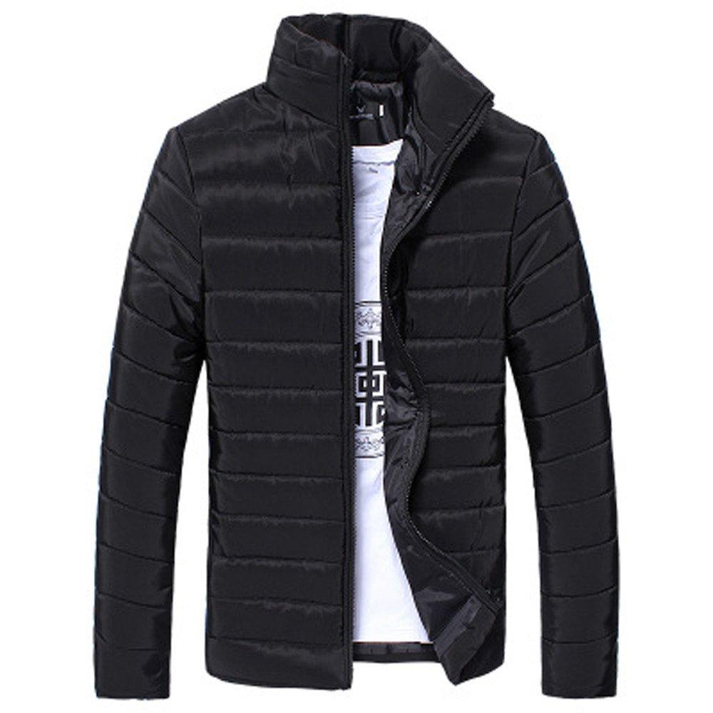 Susenstone Homme Manteau en Coton Coat Vestes Col Debout Slim Mode Zipp/é Casual Hiver /éPais Chaud Manche Longues Jacket Coat