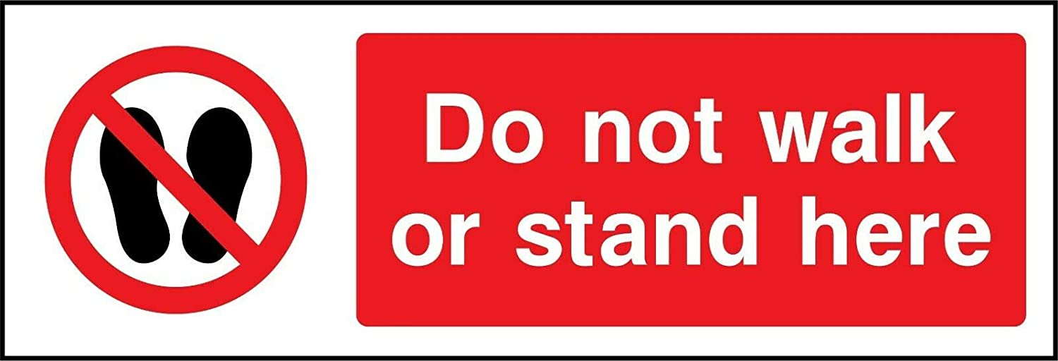 6x16 Inches Tin Decor Safety Sign Prohibition General Do not Walk or Stand here Tin Sign