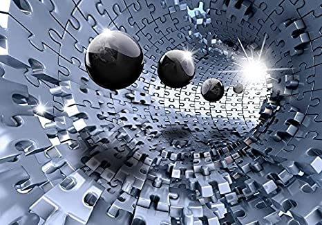 murando Papier peint intiss/é 250x175 cm D/écoration Murale XXL Poster Tableaux Muraux Tapisserie Photo Trompe loeil Puzzle abstraction a-A-0190-a-b
