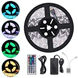 iHomy 16.4ft LED Flexible Light Strip, RGB 300 LEDs SMD 5050, LED Strip Lights, 12V DC Waterproof, Light Strips, LED ribbon, DIY Christmas Holiday Home Kitchen Car Bar Indoor Ceiling Party Decoration