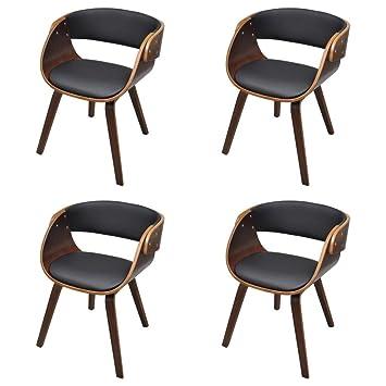 Stühle Sessel vidaxl 4 x esszimmer stuhl stühle sessel esszimmerstühle holzrahmen