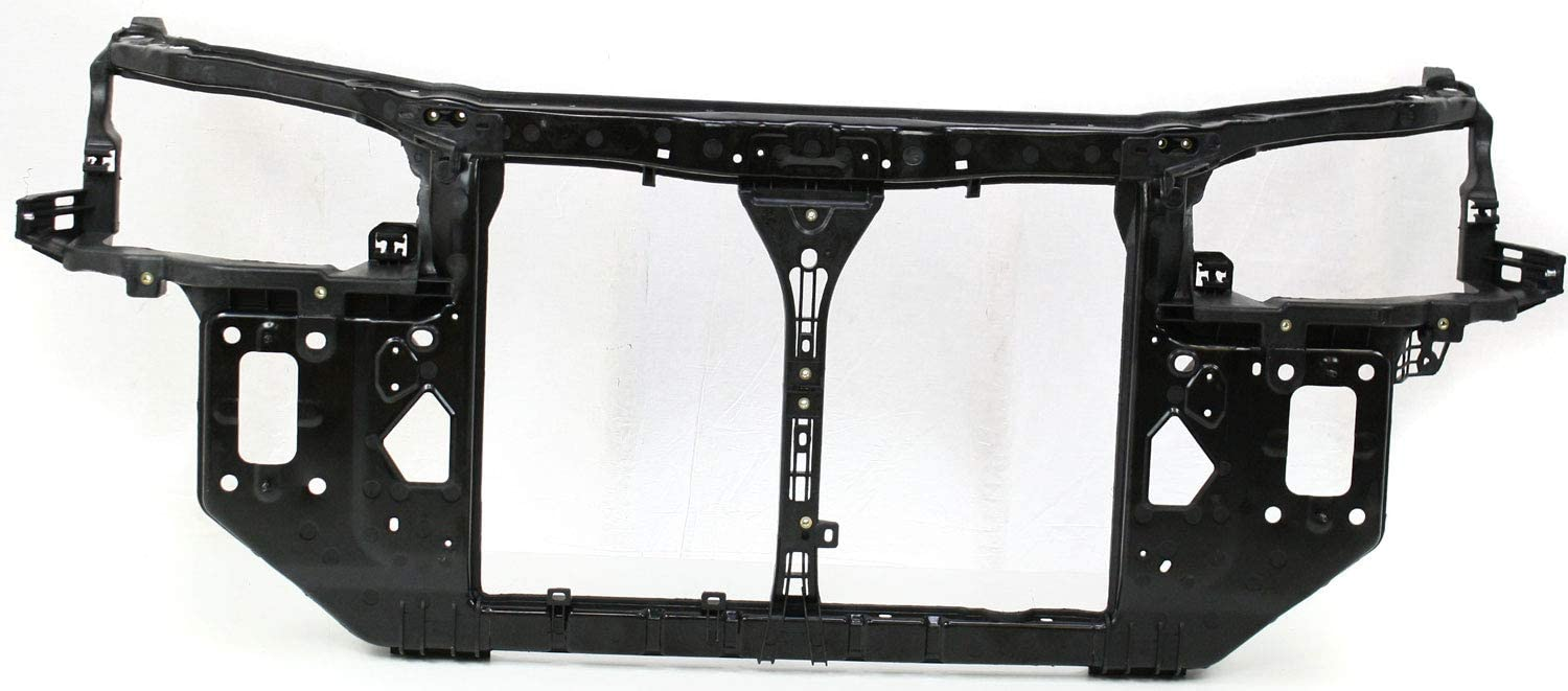 Radiator Support Assembly Compatible with 2007-2010 Hyundai Elantra Black Plastic with Steel Sedan