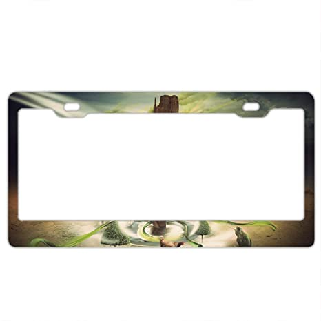 My Happy Place Is Montana License Plate Frame Tag Holder