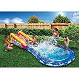 Banzai Wave Crasher Surf Belly Board Water Slide into Pool for Kids 5 - 12 Blow Up Outdoor Summer Fun