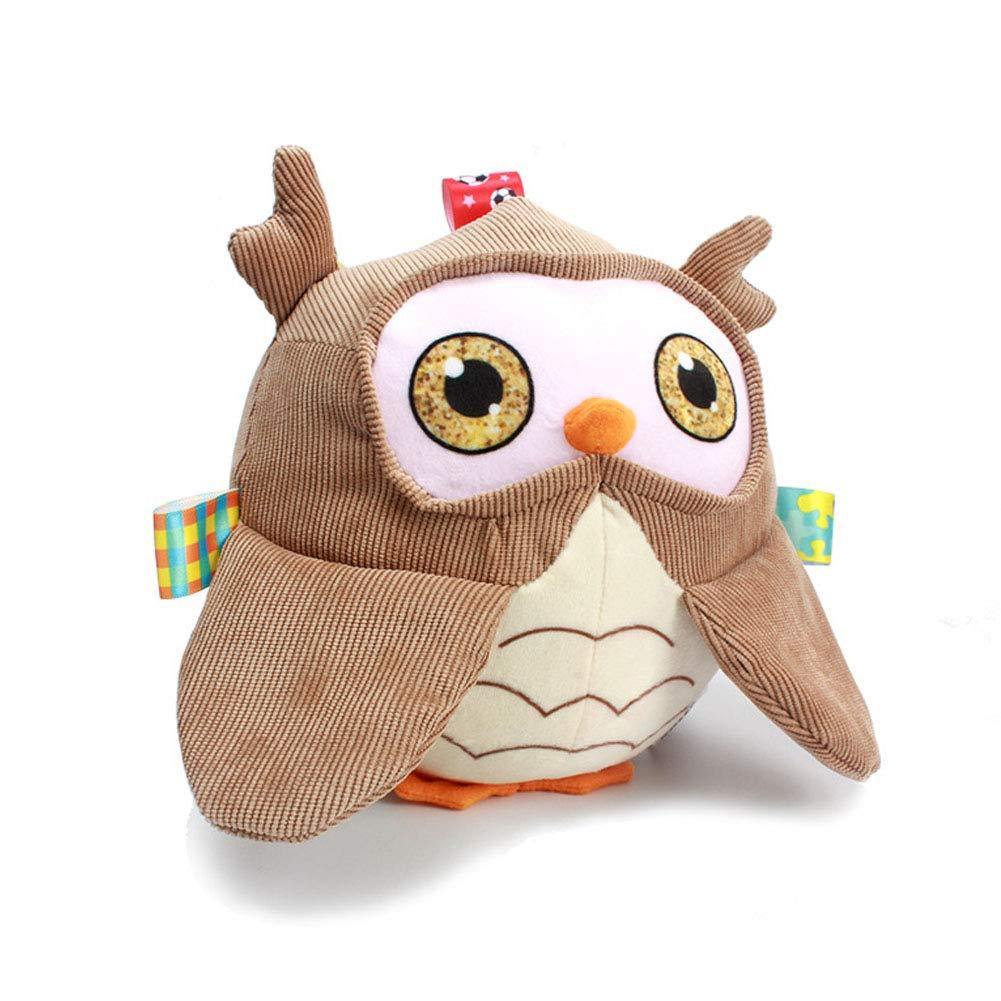 Mon premier hibou doux hochet jouet non toxique boule de tissu de bébé éducation précoce jouets activité boule boule secoueur pour nourrissons et enfants cadeau poignée de main boule 1pc Newin Star