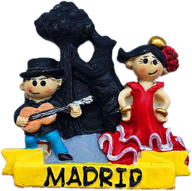 Hqiyaols Recuerdo Baile Flamenco En Madrid España Refrigerador 3D ...