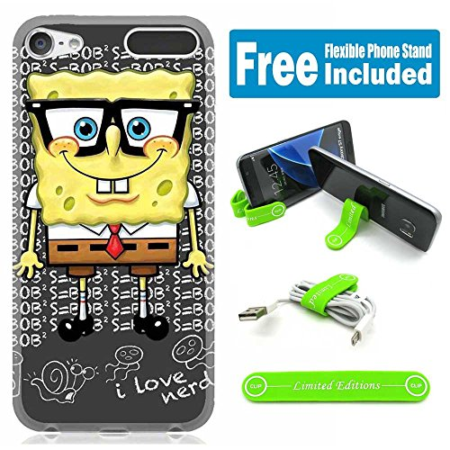 Apple iPod Touch 5th/6th Generation Case Cover Skin with Flexible Stand - Spongebob Nerd (5 Spongebob Touch Case Ipod)