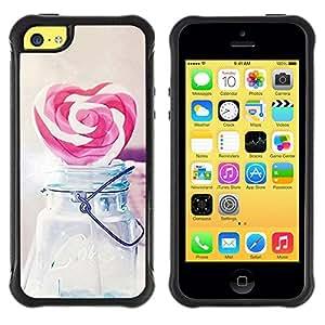 "Hypernova Defender Series TPU protection Cas Case Coque pour Apple iPhone 5C [Amor del corazón del caramelo del inconformista""]"