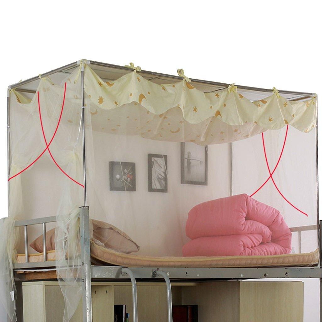 QI FANG BUSINE Moskitonetz Einzelbett Polyester Atmungsaktiv Lila Lila Atmungsaktiv Beige Moskito-Kontrolle Reißverschluss Staub Passt EIN 3,3-Fuß-Bett 0b5c29