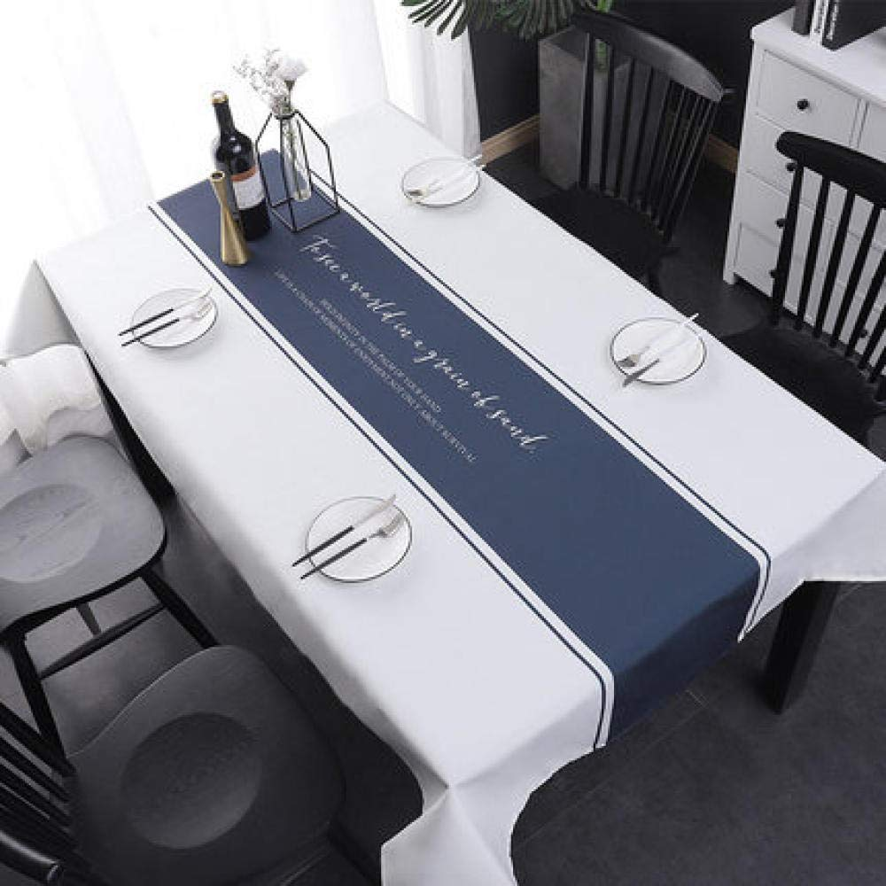 WJJYTX Plastic Tablecloth Wipe clea,Square Table Cover Cloth Tablecloth and Various Sizes-Dirt Repellent Tablecloth Senior gentleman-140 * 180_E