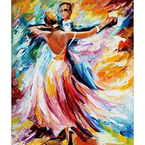 MKChung 5D Ballroom Dancing Man Women Diamond Wall Painting for Dance Lovers Room Decor