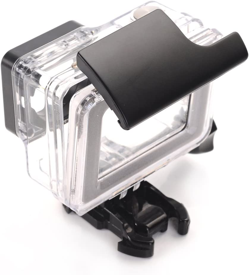 Nechkitter Smooth Surface Plastic Latch Rear Snap Waterproof Housing Case Snap Lock Buckle Replacement for Gopro Hero 4 3 Housing Skeleton Black